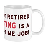 Retired Knitting Gag Gift Mug