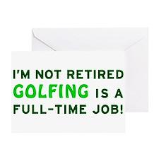 Retired Golfing Gag Gift Greeting Card