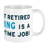 Retired Fishing Gag Gift Mug
