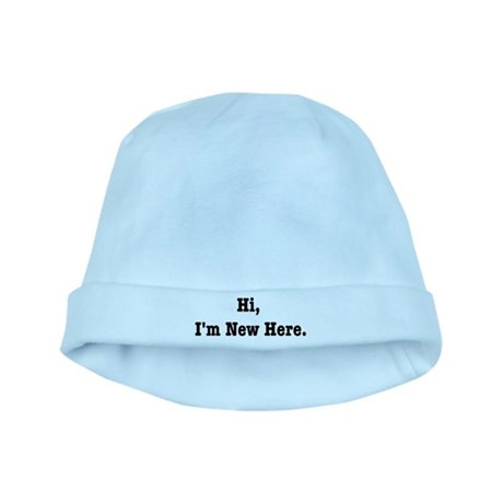 Hi, I'm New Here baby hat