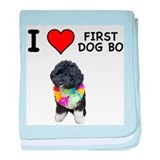 I Love First Dog Bo baby blanket