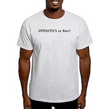 Antarctica or Bust! Ash Grey T-Shirt