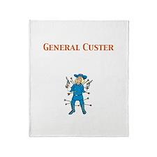 General Custer Throw Blanket