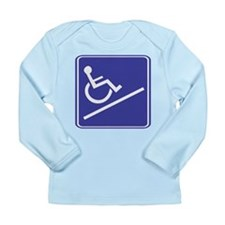 Handicapped Ramp Right Sign Long Sleeve Infant T-S