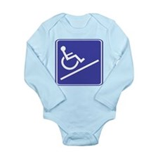 Handicapped Ramp Right Sign Long Sleeve Infant Bod