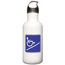 Handicapped Ramp Right Sign Water Bottle
