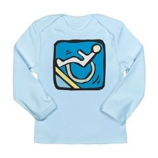 Handicapped Ramp Left Sign Long Sleeve Infant T-Sh