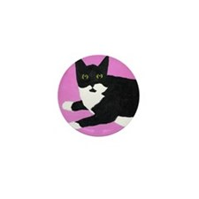 Tuxedo Cat Mini Button (10 pack)