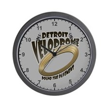 Detroit Velodrome Wall Clock