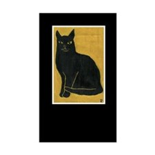 Black Cat Rectangle Decal