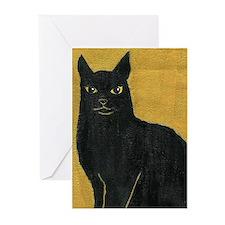 Black cat  Greeting Cards (Pk of 10)