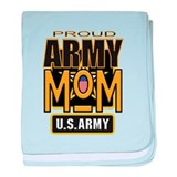 Proud Army Mom baby blanket