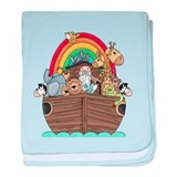 Noah's Ark and Rainbow baby blanket