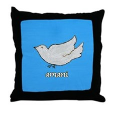 Amani Swahili Peace Dove Throw Pillow