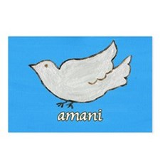 Amani Swahili Peace Dove Postcards (Package of 8)
