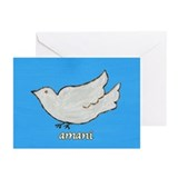 Amani Swahili Peace Dove Greeting Cards (Package o