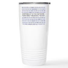 A Network Analyst's Slogan Ceramic Travel Mug