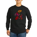 Fibonacci Lips Long Sleeve Dark T-Shirt