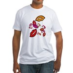 Fibonacci Lips Fitted T-Shirt