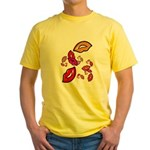 Fibonacci Lips Yellow T-Shirt