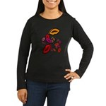 Fibonacci Lips Women's Long Sleeve Dark T-Shirt