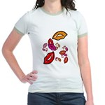 Fibonacci Lips Jr. Ringer T-Shirt