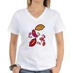 Fibonacci Lips Women's V-Neck T-Shirt