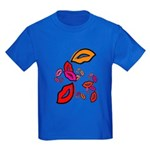 Fibonacci Lips Kids Dark T-Shirt
