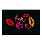Fibonacci Lips Postcards (Package of 8)