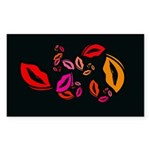 Fibonacci Lips Sticker (Rectangle 10 pk)