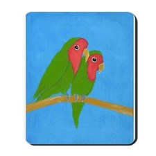 Lovebirds Mousepad