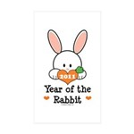 Year Of The Rabbit Sticker (Rectangle 50 pk)