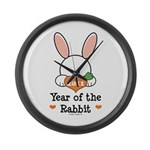 Year Of The Rabbit Large Wall Clock