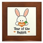 Year Of The Rabbit Framed Tile