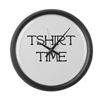 Tshirt Time Large Wall Clock