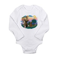 St Francis #2/ Airedale Long Sleeve Infant Bodysui