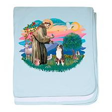 St.Francis #2/ Aus Shep (tri) baby blanket