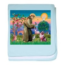 St Francis & Aussie baby blanket