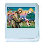 St Francis/Beagle baby blanket