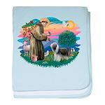 St.Francis #2/ Beardie (sw) baby blanket
