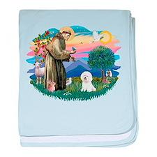 St Francis #2/ Bichon #1 baby blanket