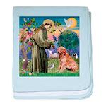 St Francis & Golden baby blanket