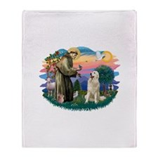 St.Francis #2/ Pyrenees #1 Throw Blanket