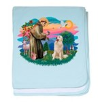 St.Francis #2/ Pyrenees #1 baby blanket