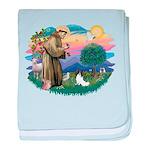 St. Francis #2 / Papillon baby blanket