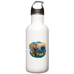 St.Francis #2/ Pugs (2 fawn) Stainless Water Bottl