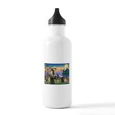 Saint Francis & Two Pugs Water Bottle