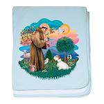 St Francis #2/ Sealyham T baby blanket