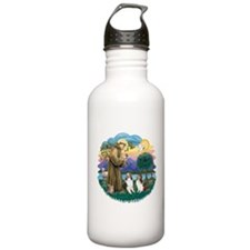 St.Francis (w) / 2 Shelties Water Bottle