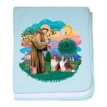 St.Francis #2/ 2 Shelties baby blanket